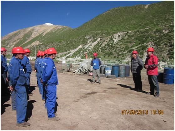 西藏尼木钻探施工项目部开展消防应急演练